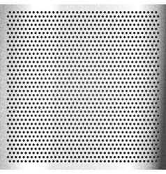 Chromium - scratched sheet metallic vector image