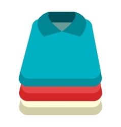 colorful shirt set graphic vector image