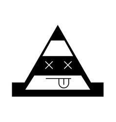 Cone construction kawaii character vector