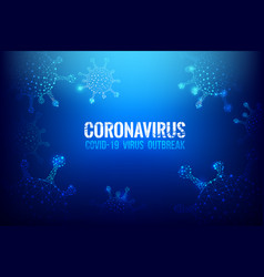 Coronavirus covid-19 text outbreak with world vector