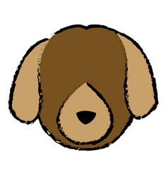 Dog face animal head pet domestic vector
