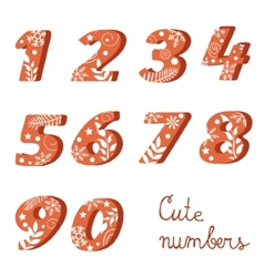Elegant colorful numbers collection vector