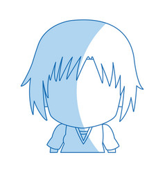 Face anime tennager faceless portrait vector