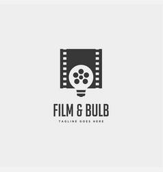 Film bulb idea simple logo template icon element vector
