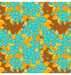 Flower pattern Blue flower vector image