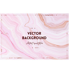 Fluid art texture abstract backdrop with mixing vector