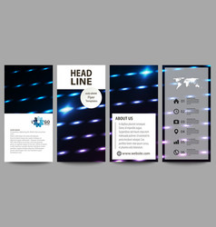 Flyers set modern banners cover templates vector