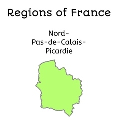 France administrative map nordpasdecalaispicardy vector