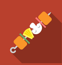 Fried skewers icon vector