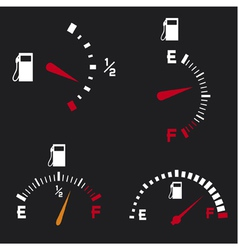 gas gauge vector image