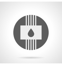 Gray round flat icon for water heating vector image