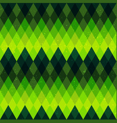 Green color rhombus seamless pattern vector