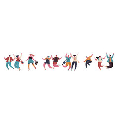 group young happy people or male and female vector image