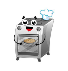 happy gas stove isolated cartoon character vector image