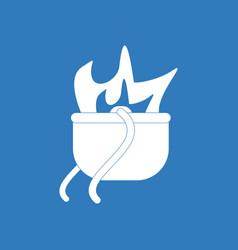 Icon military cauldron pot vector