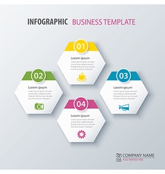 Infographic options template for business vector