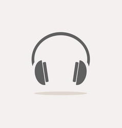 Isolated headphones icon on a white background vector