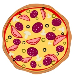 Isolated pizza vector image