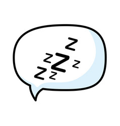Isolated sleep time speech bubble vector