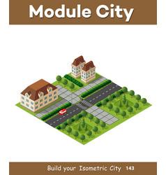 Isometric retro 3d urban module city vector