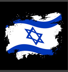 Israel flag grunge style spots and splashes vector