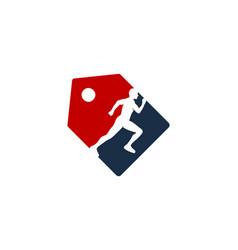 label run logo icon design vector image
