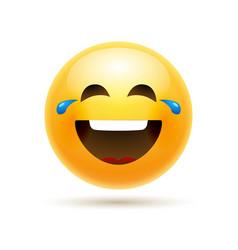 Lol emoji icon smile face emoticon joke happy vector