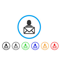 mail recipient rounded icon vector image