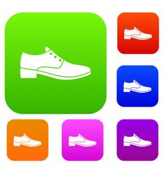 men shoe set collection vector image