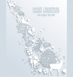 Merry Christmas 3D vector image