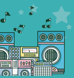 moderm music equipment vector image