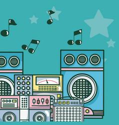 moderm music equipment vector image