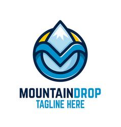 mountain drop logo vector image