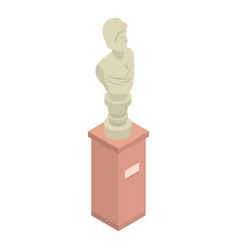 Museum bust sculpture icon isometric style vector