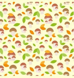 mushrooms background vector image