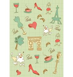 Paris icons design vector