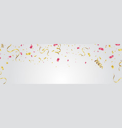 Party balloons confetti and ribbons vector