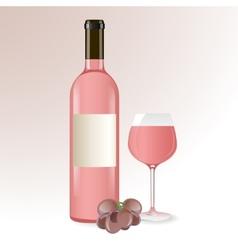 Pink wine vector