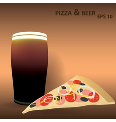 Pizza and beer eps10 vector