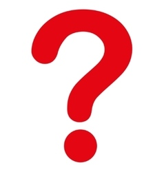 Question flat red color icon vector