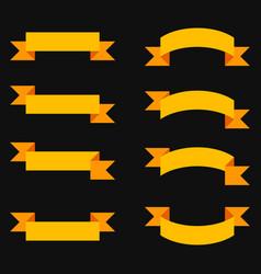 ribbons banner set on black background vector image