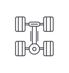 running gear line icon concept running gear vector image