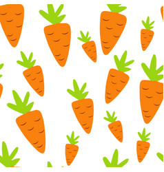 seamless pattern of carrots vector image