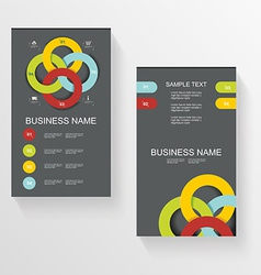 Set Of Modern Global Business Design Banner vector image