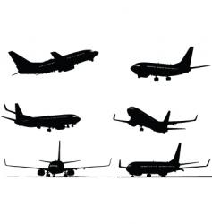 Six plane silhouettes vector