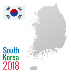 south korea political map with capital seoul vector image