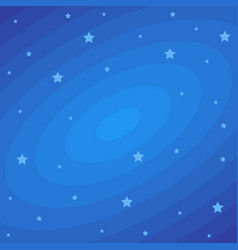 stars on dark blue cosmic backdrop flat vector image