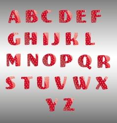 Strawberry alphabet vector image