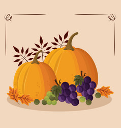Thanksgiving day food vector