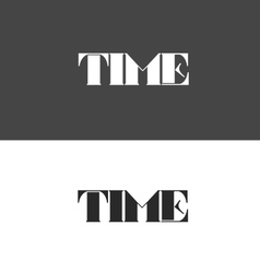 Time logo made up of letters vector